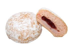 とろける苺ドーナツ